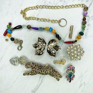 Lot of Various Belt and Buckle Pieces for Crafts